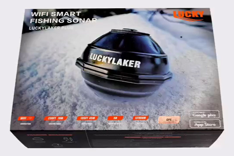 Lucky wifi smart fish finder with GPS function